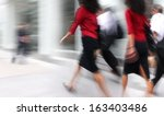 shopping in the city in motion... | Shutterstock . vector #163403486