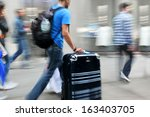 business people at rush hour... | Shutterstock . vector #163403705
