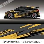 car wrap decal design vector ... | Shutterstock .eps vector #1634043838