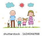 set of hand drawn cartoon... | Shutterstock .eps vector #1634046988