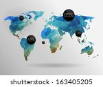 world map background in... | Shutterstock .eps vector #163405205