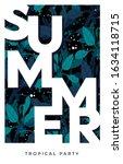 dark vector summer design with... | Shutterstock .eps vector #1634118715