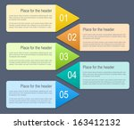 abstract numbered banners with... | Shutterstock .eps vector #163412132