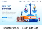 law firm services landing page... | Shutterstock .eps vector #1634135035