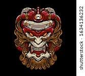 cyber monkey head vector...   Shutterstock .eps vector #1634136232