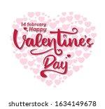 valentines day handwriting.... | Shutterstock .eps vector #1634149678