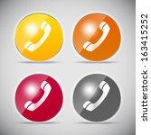 shine glossy computer icon... | Shutterstock .eps vector #163415252