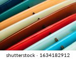 Set Of Colorful Surfboard For...