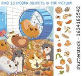find 20 hidden objects in the... | Shutterstock .eps vector #1634183542