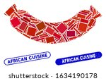 mosaic sausage and corroded... | Shutterstock .eps vector #1634190178