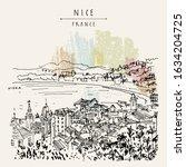 nizza  nice   france  europe.... | Shutterstock .eps vector #1634204725