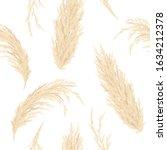Golden Pampas Grass Seamless...