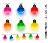 Set Of Multi Colored Christmas...