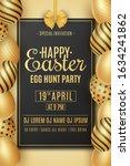 easter party poster. golden... | Shutterstock .eps vector #1634241862