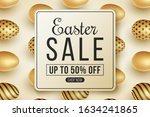 label for easter big sale on a... | Shutterstock .eps vector #1634241865