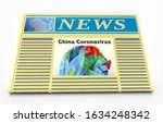 newspaper with news about 2019... | Shutterstock . vector #1634248342