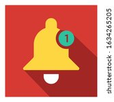 notification bell flat icon...
