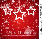 christmas stars with snow.... | Shutterstock .eps vector #163426826