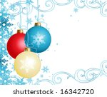 Christmas ornaments / vector background / cmyk color - stock vector