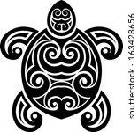 tattoo turtle | Shutterstock .eps vector #163428656