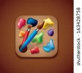 palette app icon illustration | Shutterstock .eps vector #163428758