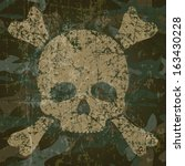 military background with skull... | Shutterstock .eps vector #163430228