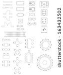 standard symbols used in... | Shutterstock .eps vector #163432502
