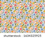 elegant floral pattern in small ... | Shutterstock .eps vector #1634325925