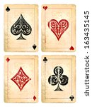 Grunge Poker Cards Vector Set....