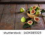 Ripe Sweet Green Figs With...