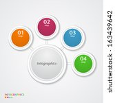 abstract infographics number... | Shutterstock .eps vector #163439642