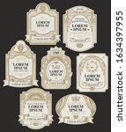 vector set of ornate labels on...   Shutterstock .eps vector #1634397955
