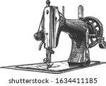 vector hand drawn illustration... | Shutterstock .eps vector #1634411185