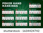 poker hand rankings combination ... | Shutterstock .eps vector #1634424742