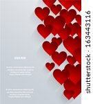abstract 3d hearts background.... | Shutterstock .eps vector #163443116