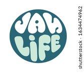 van life. hand drawn vector... | Shutterstock .eps vector #1634474962