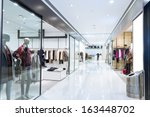 boutique display window with... | Shutterstock . vector #163448702