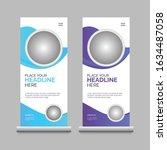 modern roll up banner template  | Shutterstock .eps vector #1634487058