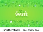 zero waste web banner with line ... | Shutterstock .eps vector #1634509462