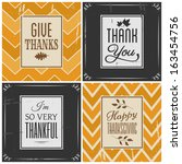 a set of four retro style... | Shutterstock .eps vector #163454756