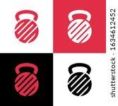 Abstract Kettlebell Logo Desig...