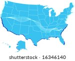 a vector stylized usa map | Shutterstock .eps vector #16346140