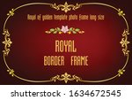 gold border frame with corner... | Shutterstock .eps vector #1634672545