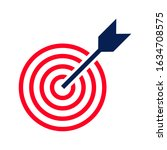 target icon. dartboard with...