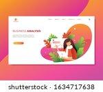 stylish vector business landing ...   Shutterstock .eps vector #1634717638