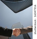 business handshake concept - stock photo