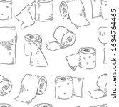 toilet paper seamless pattern....   Shutterstock .eps vector #1634764465