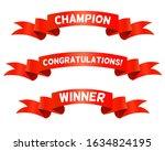 red trohpy ribbons for winners. ...   Shutterstock .eps vector #1634824195
