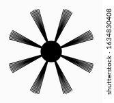 round sweeping brush for robot... | Shutterstock .eps vector #1634830408
