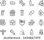 set of medicine icons  pills ... | Shutterstock .eps vector #1634867395